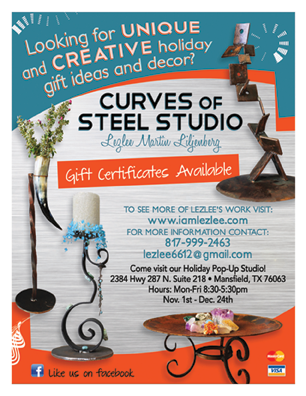 Curves of Steel Studio Holiday Shopping Event